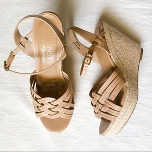 Coconuts by Matisse Nude Espadrilles Wedge Sandals
